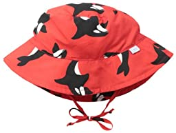 i play. Baby Bucket Sun Protection Hat, Red Killer Whale, 9-18 Months
