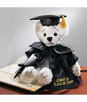 Personalized White Graduation Bear