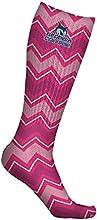 Georgia College amp State University Bobcats Socks Chevron Pink Design pair