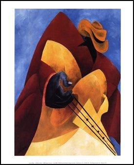 Uptown Blues High Quality Museum Wrap Canvas Print Philemon Reid 8X10