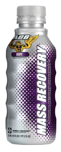 ABB, Mass Recovery, Post-Workout and Daily Nutrition Drink, Volumizing Grape, 24 - 18 fl oz (532 ml