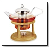 Adagio Teas Concert Teapot With Filter and Warmer Stand