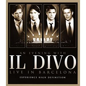 Il Divo - An Evening With Il Divo - Live In Barcelona Blu-ray 2009region Free by Sony Bmg