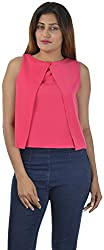 Sahiba Fashions Women's Sleeveless Top ( Pink)