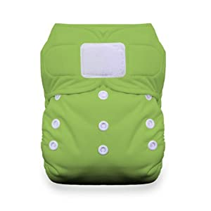 Thirsties Duo All in One Cloth Diaper with Hook and Loop, Meadow, Size 1