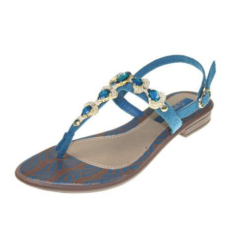 Grendha  JOIA IMPERIAL SD FEM,  Sandali donna brown blue gold 41-42