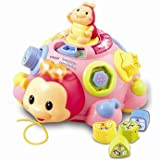 Quality VTech Baby Crazy Legs Learning Bug - Pink with accompanying ChildSAFE Door Stops