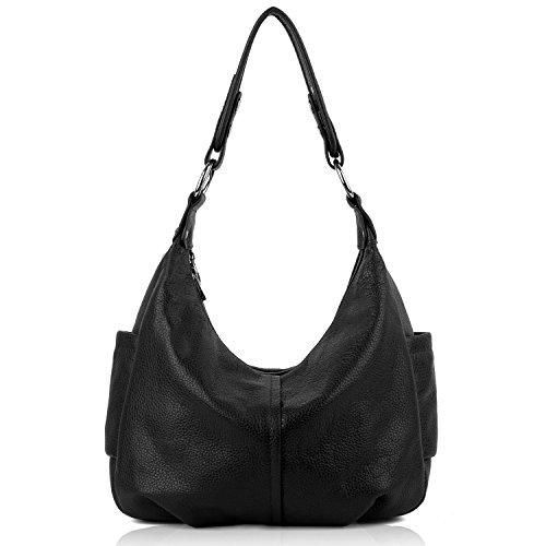 yaluxe-women-ladies-soft-cowhide-leather-hobo-shoulder-bags-with-side-pocketsblack