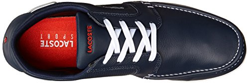 Lacoste Men's Dreyfus Boat Shoe,Dark Blue/White,9.5 M US