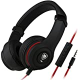 Darkiron N8 Headphones Headset with In line Mic and Volume Control, Extremely Soft Ear Pad, Noise Cancelling Cute Earphones for Cellphone Smartphone Iphone/ipad/laptop/tablet/computer/MP3/MP4/etc, Best Christmas Gifts(Black)
