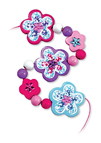 Melissa & Doug Wooden Flower Bead Set