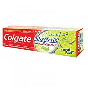 Colgate Toothpaste Max Fresh Cooling Crystals Green Gel Tube
