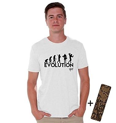 Awkwardstyles Bodybuilding Evolution T-shirt Dumbell Fitness Shirt + Bookmark