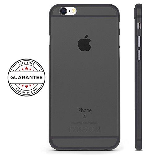 Custodia-per-Iphone-6-6S-Trasparente-UltraSottili-AntiGraffio-Antiurto-RED-CANARY-Iphone-6-6S-Cover-Case-GARANZIA-A-VITA-Nero