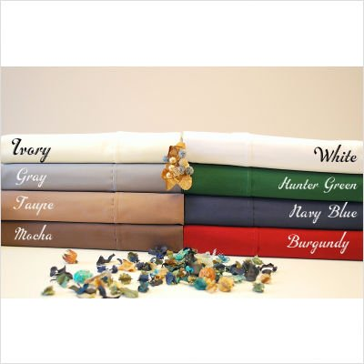 Luxor Treasures 400 Thread Count Solid Sheet Set Size: Full, Color: Hunter Green