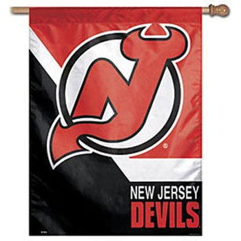 "NHL New Jersey Devils Vertical Flag, 27"" x 37"""
