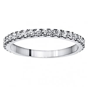0.65 CT TW Pave Set Diamond Encrusted Wedding Band in Platinum - Size 7