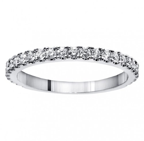 0.65 CT TW Pave Set Diamond Encrusted Wedding