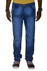 Jugend Blue Stretchable washed Regular Fit jeans for men