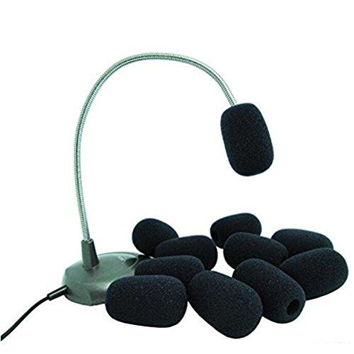 vorcool-pare-brise-de-mousse-mic-windshiled-housses-pour-revers-micro-cravate-10pcs-noir