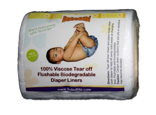 Viscose Biodegradable/ Flushable Liners for Dispoable or Cloth Diaper- BubuBibi - 1