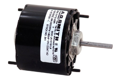 Century 541 Blower Motor With 3.3-Inch Frame Diameter, 1/80-Hp, 3000-Rpm, 115-Volt, 0.55-Amp And Sleeve Bearing
