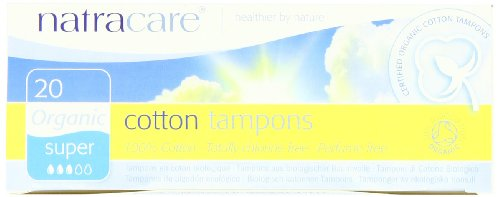 Natracare Organic All Cotton Tampons, Non-Applicator, Super, 20-Count Boxes (Pack Of 12)
