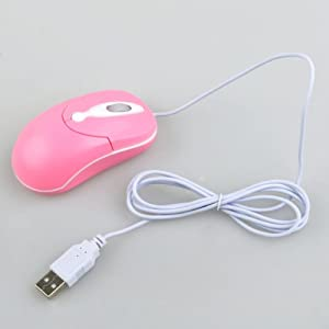 BestDealUSA PINK USB OPTICAL MOUSE Compact Scroll Wheel Mouse for PC Laptop