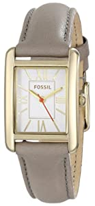 """Fossil Women's ES3517 """"Florence"""" Stainless Steel Watch with Leather Strap"""