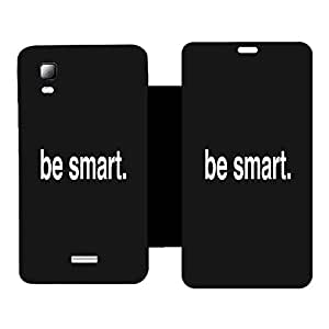 Skintice Designer Flip Cover with hi-res printed Vinyl sticker wrap-around for Micromax Canvas Doodle 3 A102