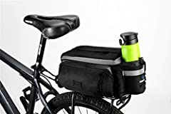 It can also be used as a regular bag after parking the bike. One can carry it by hand or shoulder due to its multiple functionalities. Nice room for things in main compartment.  Color: Black Size: 11.1'' x 5.51'' x 6.3'' (28 x 14 x 16cm) Weight: 0.45...