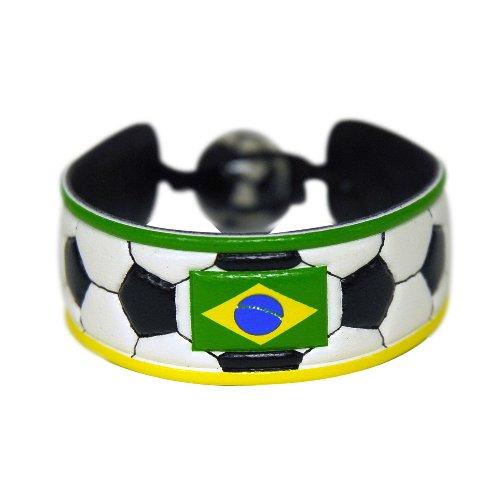 Brazil Flag Classic Soccer Bracelet