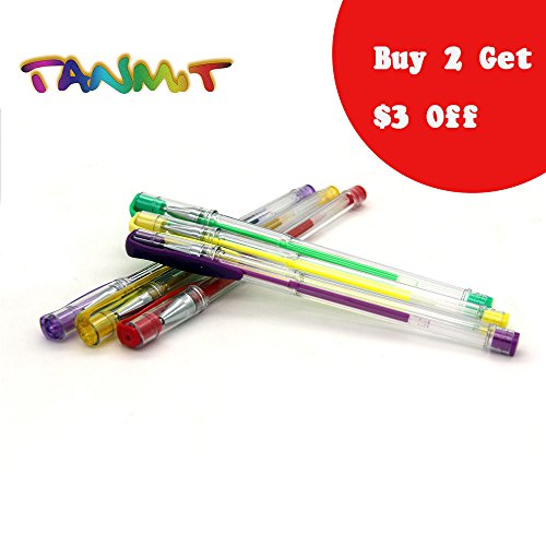 Tanmit-Colored-Gel-Pens-for-Adult-Coloring-Books-Assorted-Color-Pen-including-GlitterMetallicNeonPastelGreat-for-SketchingDrawingCalligraphy