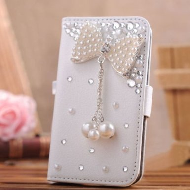 Candymaker Samsung Galaxy S5 I9600 Case Luxury 3d Bling Crystal Rhinestone Wallet Leather Purse Flip Card Pouch Stand Cover Case
