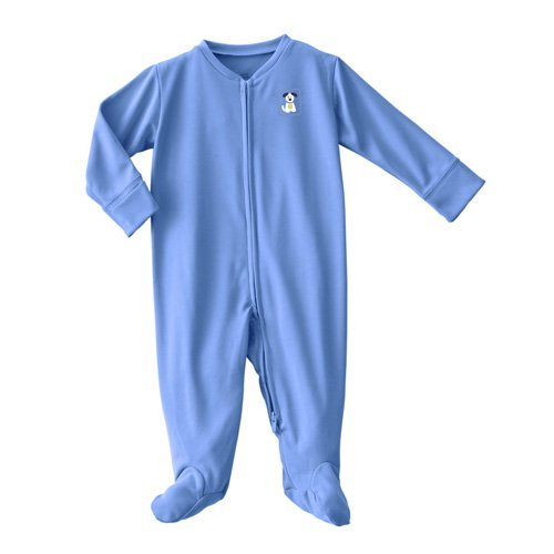Halo Comfortluxe Coverall Silky, Blue Pup Pals, 6-9 Months