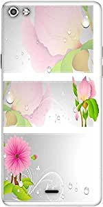 Snoogg Flourish Vector Banner Designer Protective Back Case Cover For Micromax Canvas Silver 5 Q450