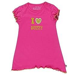 Buzzy Baby Girls' Cotton Drizella - Dress (Drizella_Pink_4-6M)