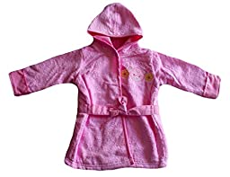 Mon Cheri Pink Terry Bear Flower Motif Robe Baby Girl 0-9M