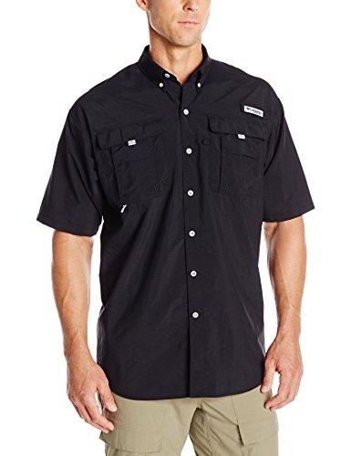Columbia Men's Bahama II Short Sleeve Shirt, Black, Large
