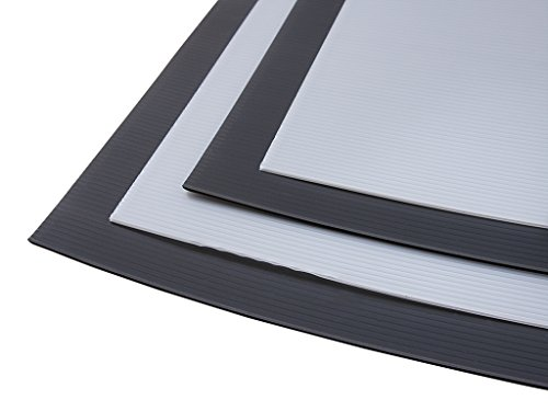 1 x Black Polyflute Correx Sheet for Hard Floor & Surface Protection (Fire Rated) 2mm x 240cm x 120cm (white optional) - select your pack size