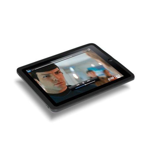 Etui en silicone et protection d'écran pour Apple iPad Tablet WiFi 16GB 32GB 64GB - Noir