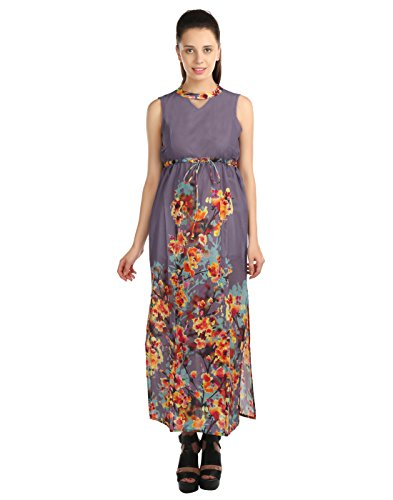 OPUS-Party-A-line-100-Cotton-Purple-Womens-Dress