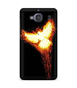 Amez designer printed 3d premium high quality back case cover for Xiaomi Redmi 2S (Rise phoenix myth fire bird phoenix)