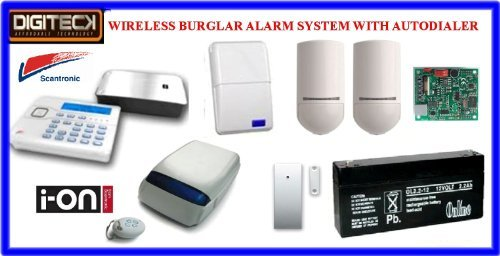 Tc104-Scantronic Ion-16 Wireless Intruder Alert Pet Friendly Burglar Alarm Au... front-1055339