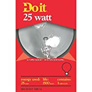 Do it Decorative Globe Light Bulb-25W CLR 3-1/8GLOBE BULB