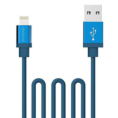 dodocool Cable lightning [Apple MFi certificado] Cable trenzado de lona Cable USB de carga y sincronización de 3.3ft / 1m para iPhone 7 / 7 Plus / iPhone SE / 6s Plus / 6 Plus / 6s / 6, iPad y iPod Color Azul