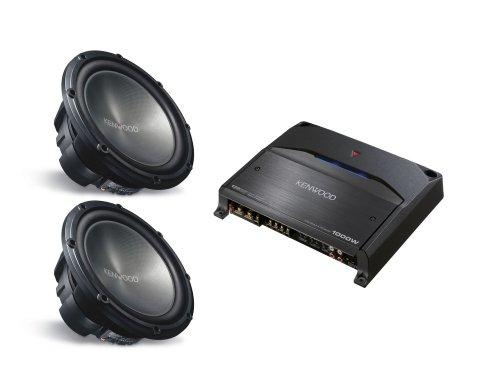 2 KENWOOD KFC-W3012 (12 inch 1200 Watt Subwoofers) & KENWOOD KAC-8105D (Mono Channel Amplifier) PACKAGE DEAL
