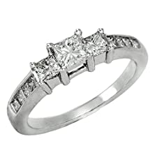 buy 1.00 Cttw Igi Certified Diamond Engagement Ring In 14K White-Gold (1 Cttw, L-M Color, I1-I2 Clarity) - Size 7.5