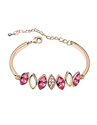 Pink Crystal Rose Gold Plated Exquisite Bracelet From Alkafashionjewels