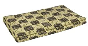 "Bowsers Luxury Dog Crate Mattress, Dog Days, MED 21""x30""x3"" by Bowsers"